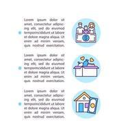 ícone do conceito de benefícios individuais com texto vetor