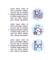 como calcular o ícone do conceito de pagamento de estímulo com texto vetor