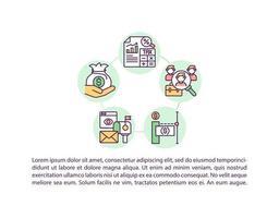 ícone do conceito de processo de pagamento com texto