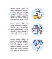 apoiando o ícone do conceito do setor empresarial com texto vetor