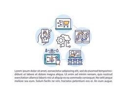 acelerando o ícone do conceito de digitalização com texto