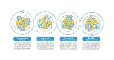 economia em setores vetor modelo infográfico