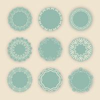 Bordas circulares decorativas vetor