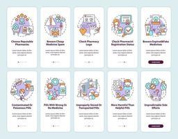 tela da página do aplicativo móvel de integração de farmácia on-line com conceitos