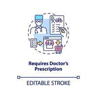 requer ícone do conceito de prescrição médica vetor