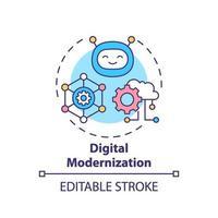 ícone do conceito de modernização digital vetor
