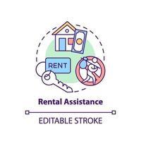 ícone do conceito de assistência ao aluguel vetor