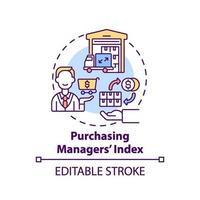 ícone de conceito de índice de gerente de compras vetor