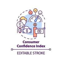 ícone do conceito de índice de confiança do consumidor vetor