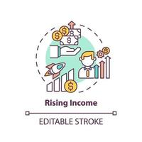 ícone do conceito de renda crescente vetor