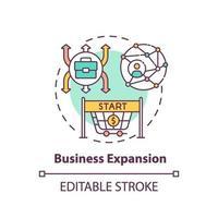 ícone do conceito de expansão de negócios vetor