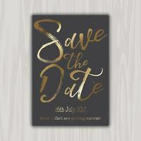Decorativa salvar o convite de data