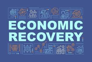 banner de conceitos de palavras de recuperação econômica