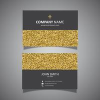 Design de cartão de visita de glitter dourados vetor