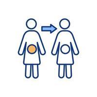 ícone de cor de fertilização humana vetor
