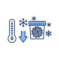 ícone de cor de ovários congelados