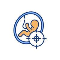 ícone de cor prática escolha germinal vetor