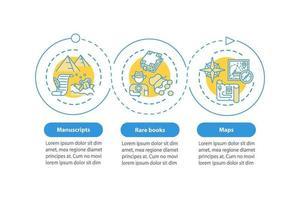 modelo de infográfico de vetor de livros raros
