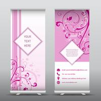 Foral roll up banners publicitários vetor