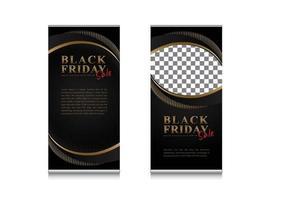 banner de luxo enrole venda de sexta-feira negra com modelo de slots para fotos vetor