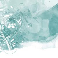 Design floral da aguarela vetor