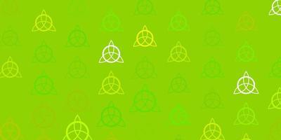 modelo de vetor verde claro com sinais esotéricos.