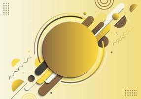 abstrato amarelo geométrico círculo padrão composição linhas arredondadas formas transição diagonal fundo vetor