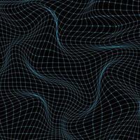 abstrato 3d ciência tecnologia conceito grade azul onda ondulada fundo e textura. vetor