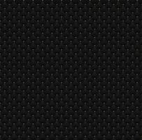 elegantes círculos pretos sem costura padrão com pontos dourados na textura de fundo escuro vetor