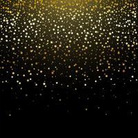 Fundo de confete estrela de ouro vetor