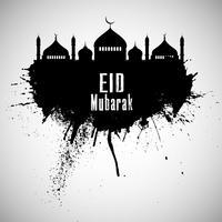 Grunge Eid Mubarak fundo 0606 vetor