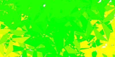 luz verde, amarelo padrão poligonal de vetor. vetor