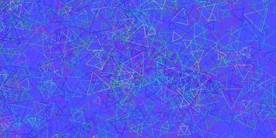 fundo escuro do vetor multicolor com formas poligonais.