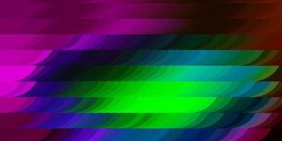 textura leve vetor multicolor com triângulos aleatórios.