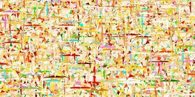 layout de vetor multicolorido de luz com linhas, triângulos.