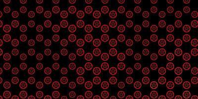 pano de fundo vector laranja escuro com símbolos de mistério.