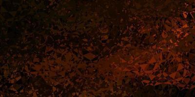 pano de fundo laranja escuro do vetor com triângulos, linhas.