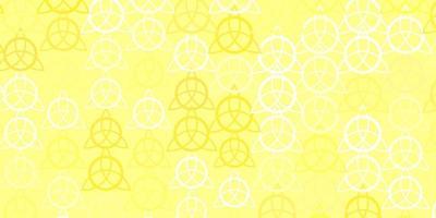 textura de vetor laranja clara com símbolos de religião.