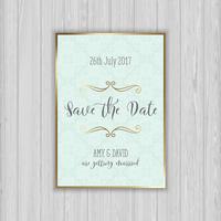 Decorativa salvar o convite de data vetor