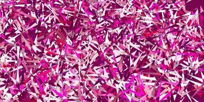 modelo de vetor rosa claro com formas de triângulo.