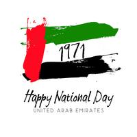 Imagem de estilo grunge para o dia nacional dos Emirados Árabes Unidos vetor