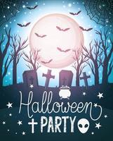 feliz festa de halloween design vetor