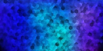 padrão de vetor rosa escuro, azul com hexágonos.