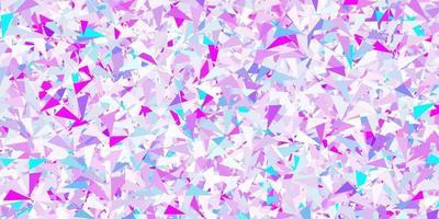 modelo de vetor rosa claro, azul com formas de triângulo.
