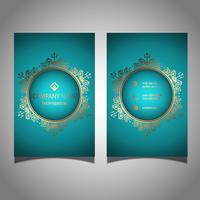 Design elegante cartão de visita vetor