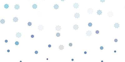 fundo vector roxo claro com flocos de neve de Natal.