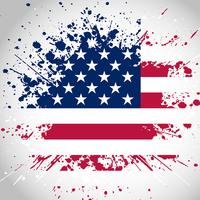 Fundo de bandeira americana grunge vetor