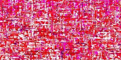 modelo de vetor rosa claro roxo com cristais, triângulos.