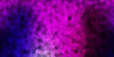 modelo de vetor roxo e rosa escuro em estilo hexagonal.