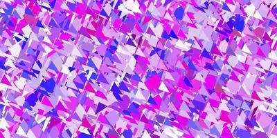 modelo de vetor roxo, rosa claro com formas de triângulo.